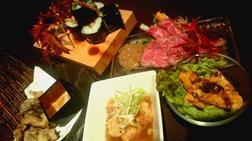 一日も早く食べて頂きたい、近江牛と地元野菜を使用した創作料理の数々